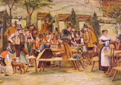 Motiv alte Schützenscheibe - Beim Anzinger