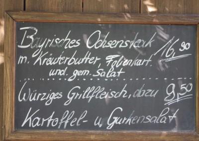 Menütafel Beim Anzinger